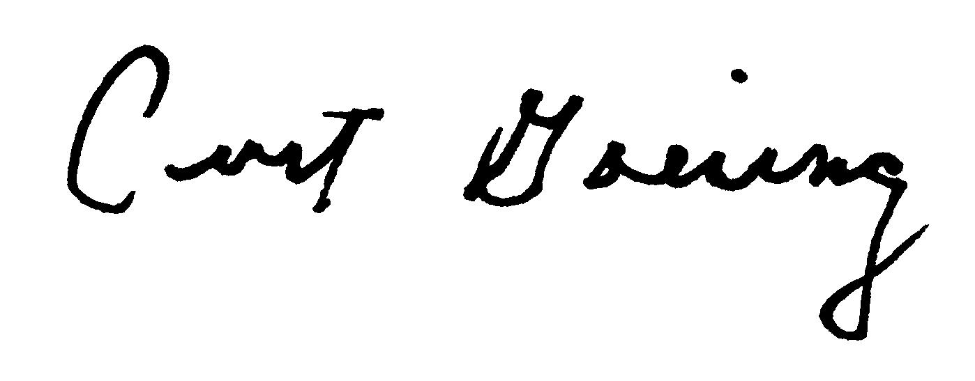 Signature Curt Goering